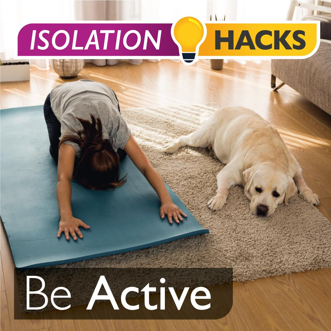 Be Active: Dog yoga!
