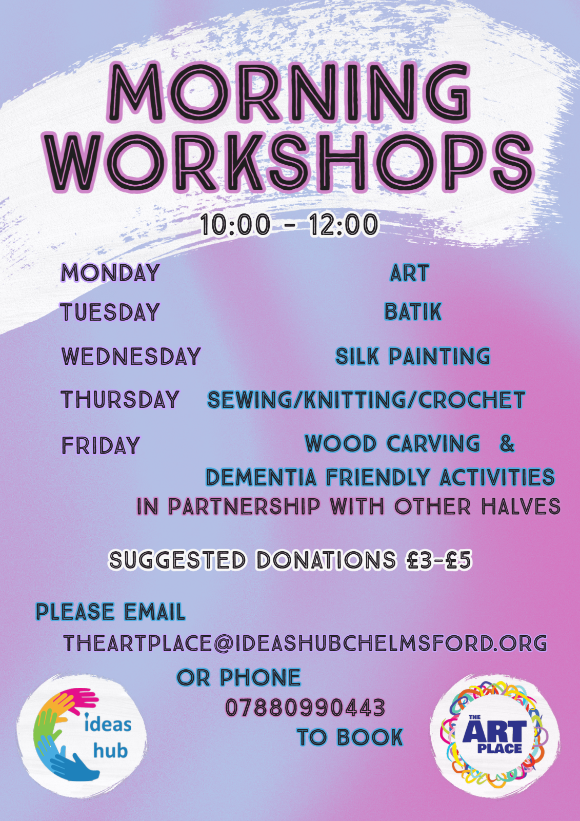 Morning Workshops at The Art Place