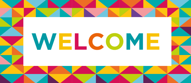 A 'Welcome' with a colourful BANG!