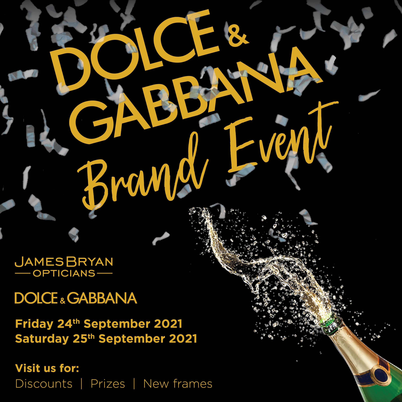 Dolce & Gabbana event at James Bryan Opticians