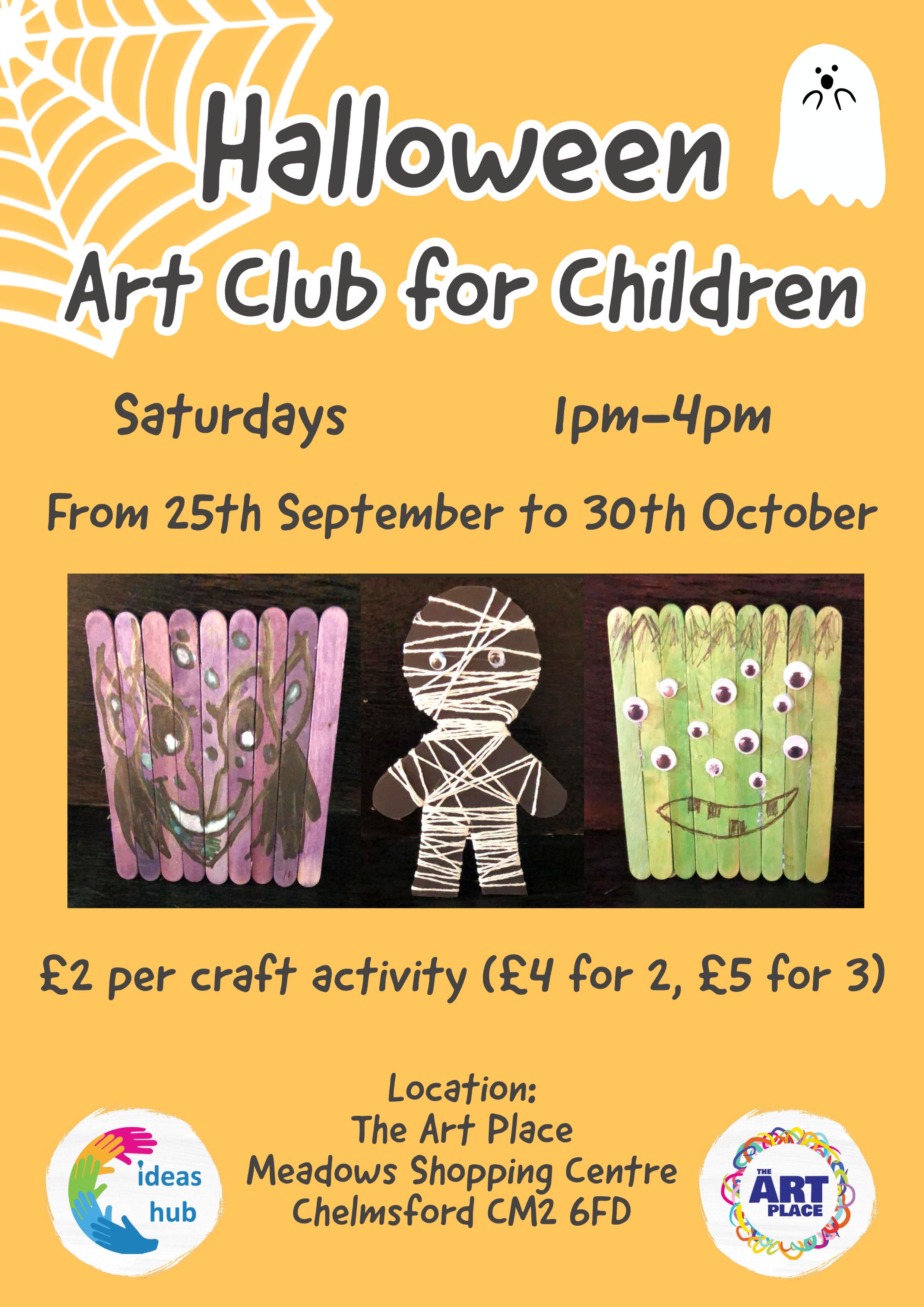 Halloween art club for children