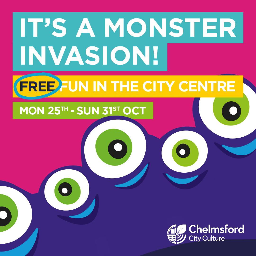 'Monster Invasion' – Monstrous Fun throughout Chelmsford City Centre